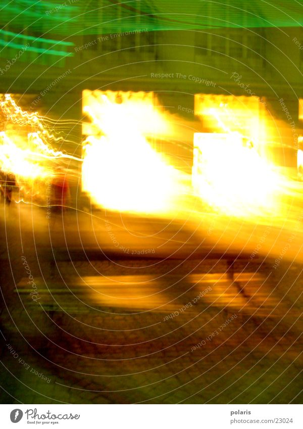Fenster Abend Licht Schaufenster unklar Fototechnik leuchten