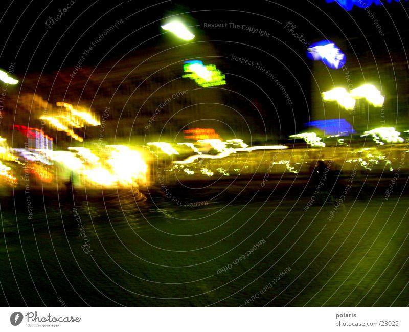 Marktplatz - Karlsruhe dunkel Lichtspiel Fototechnik Abend hell Kontrast