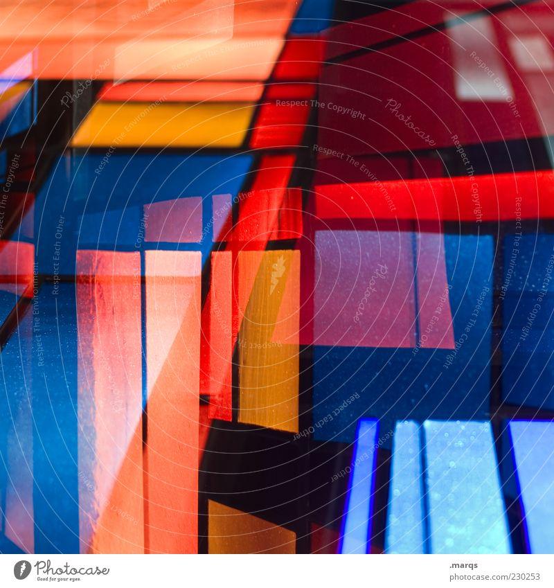 Coincidence Lifestyle Stil Design Kunst Glas Linie außergewöhnlich einzigartig verrückt mehrfarbig chaotisch Farbe Perspektive skurril Mosaik leuchten