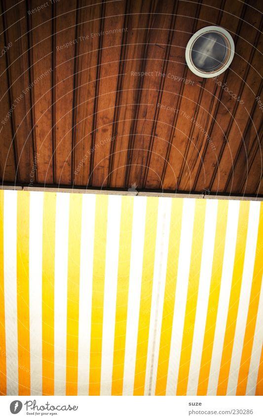 Mr. Nico verlangt nach Farbe Stil Design Streifen einfach einzigartig braun gelb Markise Wetterschutz Lampe Holz Holzdecke Linie leuchten Farbfoto mehrfarbig