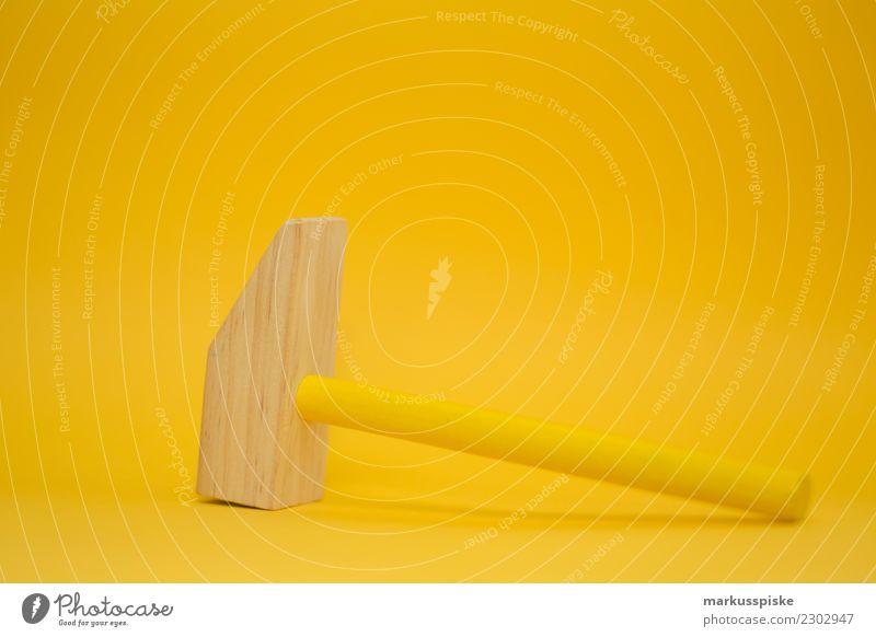 Holzhammer Freizeit & Hobby Spielen Kindererziehung Bildung Kindergarten lernen Kleinkind Mädchen Junge Kindheit 1-3 Jahre Hammer holzhammer gelb zitronengelb