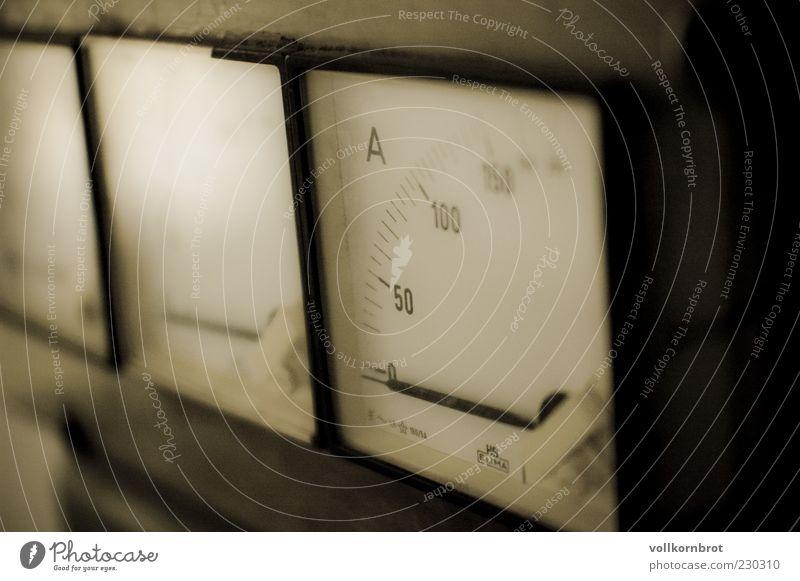 Messinstrument Energie Technik & Technologie Ziffern & Zahlen Kontrolle Anzeige Leerstand Makroaufnahme unbenutzt Ampermeter