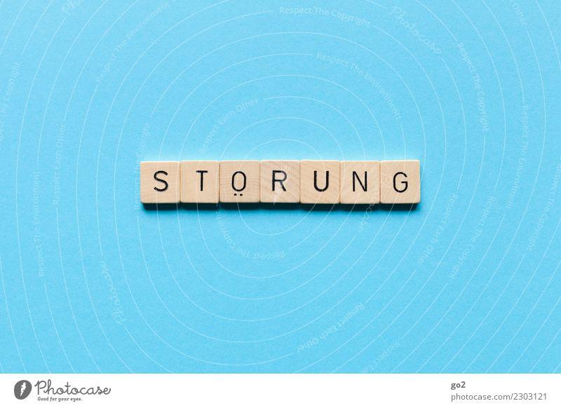 St*rung blau Spielen außergewöhnlich Schriftzeichen Kommunizieren Wandel & Veränderung Irritation Störung