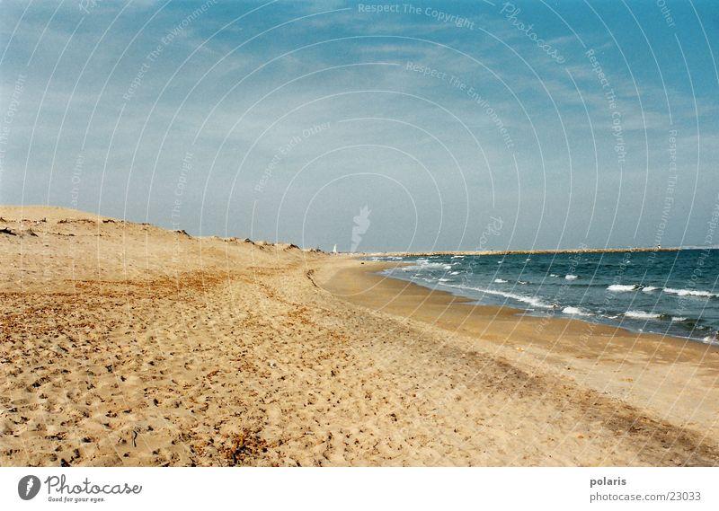 spaniens strand Meer Sommer Strand Einsamkeit Wellen Europa Spanien Schönes Wetter Blauer Himmel