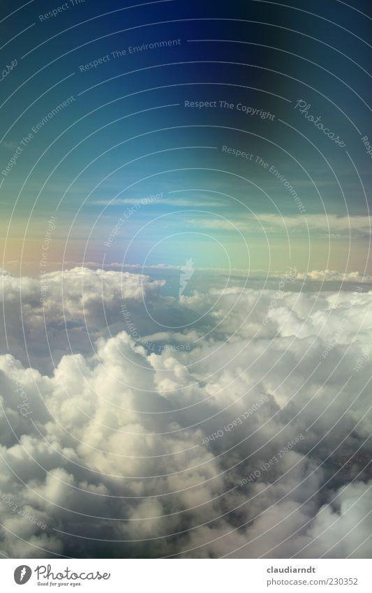 Somewhere... Luft Himmel Wolken Horizont Wetter im Flugzeug fantastisch Unendlichkeit blau mehrfarbig Hoffnung Glaube träumen Surrealismus Himmel (Jenseits)