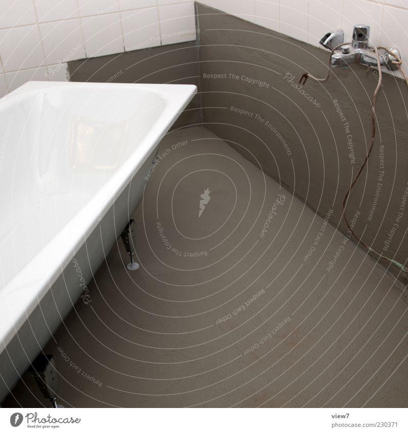 new one weiß Wand grau Mauer Metall Raum Wohnung Beton frisch modern authentisch neu Baustelle einfach Bad Badewanne
