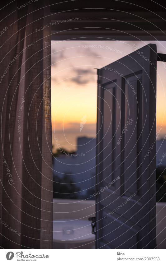 guten morgen Ferien & Urlaub & Reisen Tourismus Häusliches Leben Wohnung Traumhaus Himmel Wolken Horizont Sonnenaufgang Sonnenuntergang Schönes Wetter Insel