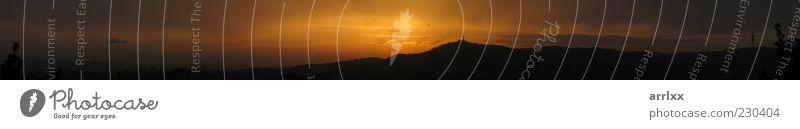 Natur schön Himmel Sonne Ferien & Urlaub & Reisen ruhig Wolken gelb Berge u. Gebirge Landschaft Luft Stimmung orange wandern Umwelt