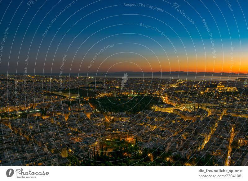 Sonnenuntergang über Athen (2) Ferien & Urlaub & Reisen Ferne Sightseeing Städtereise Sommerurlaub Himmel Sonnenaufgang Schönes Wetter Mittelmeer Griechenland