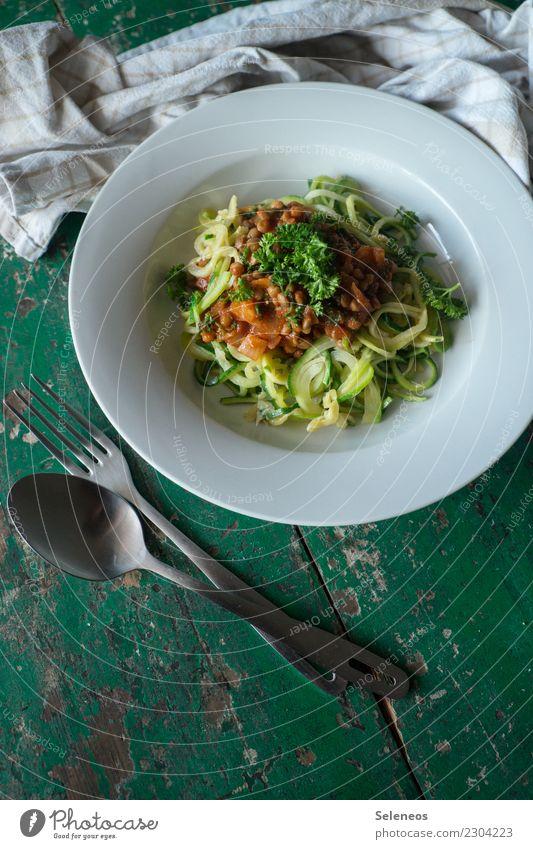 Zucchininudeln Lebensmittel Gemüse Kräuter & Gewürze Linsen Petersilie Nudeln Ernährung Essen Mittagessen Abendessen Bioprodukte Vegetarische Ernährung Diät