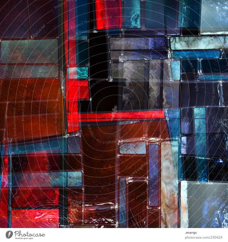 Sacred Lifestyle Stil Design Kunst Glas Linie außergewöhnlich einzigartig verrückt mehrfarbig chaotisch Farbe Perspektive skurril Mosaik Kirchenfenster