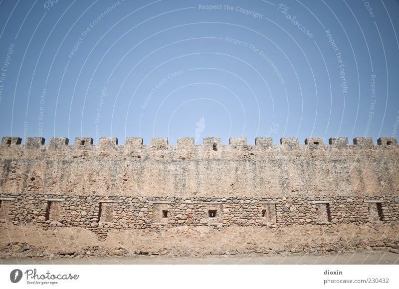 in ancient times [4] Sommer Himmel Wolkenloser Himmel Sonnenlicht Schönes Wetter Ruine Bauwerk Architektur Mauer Wand Sehenswürdigkeit alt authentisch groß