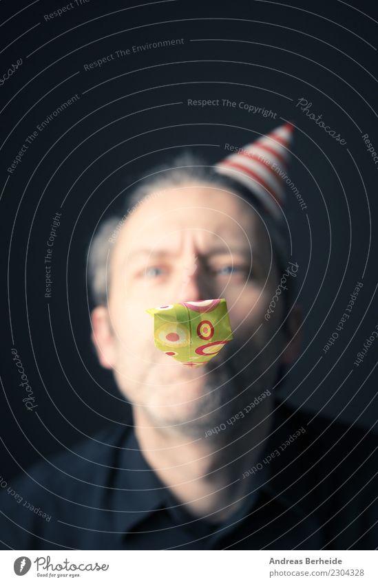 Tröt ! Freude Schminke Feste & Feiern Karneval Halloween Geburtstag Mensch maskulin Mann Erwachsene 1 45-60 Jahre Fröhlichkeit lustig verrückt Glück