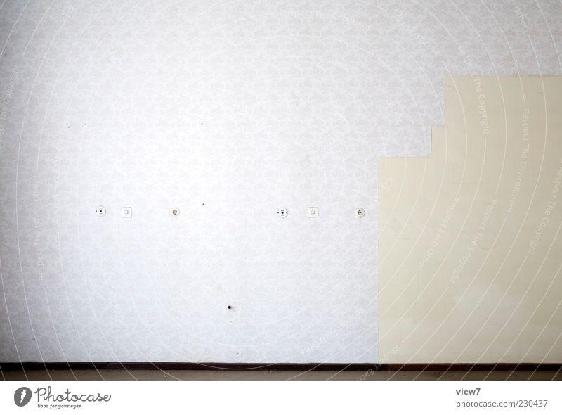Nichts + + alt weiß kalt Wand Mauer Linie Raum Wohnung Beton Ordnung Beginn frei Design ästhetisch leer Streifen