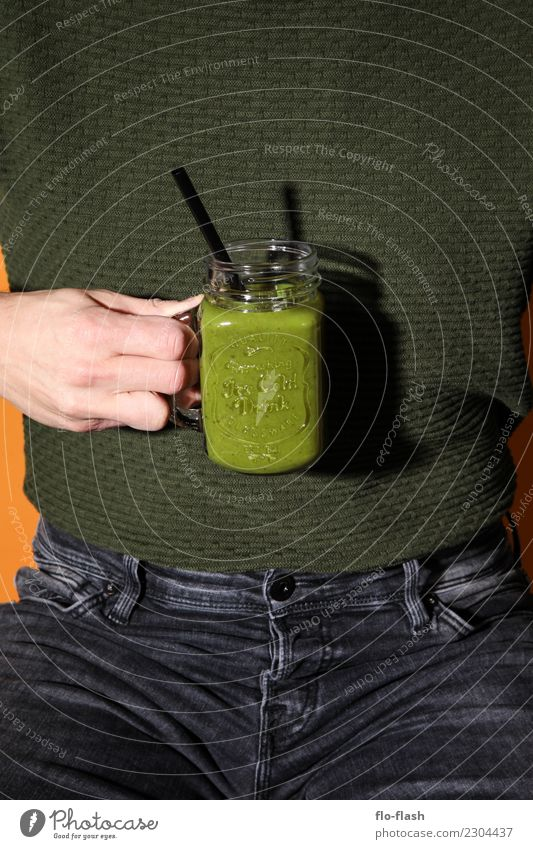 Apfel, Feige, Eidechse, ... Jugendliche Mann grün Junger Mann Erotik Erwachsene Leben Lifestyle Gesundheit Stil Lebensmittel Design Frucht maskulin ästhetisch