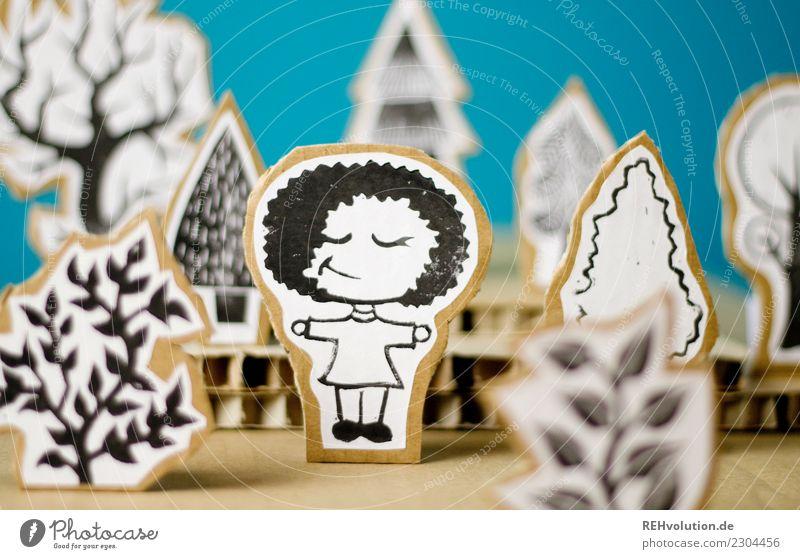 Pappland   Natur genießen Stil Design feminin Mädchen Junge Frau Jugendliche 1 Mensch Umwelt Landschaft Wald Erholung Lächeln stehen außergewöhnlich