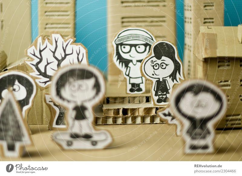 Pappland | Viele Mensch Jugendliche Stadt Haus Freude Mädchen Lifestyle natürlich feminin Stil Glück außergewöhnlich Menschengruppe Design Freizeit & Hobby