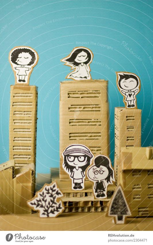 Pappland | City Mensch Stadt Erholung Haus natürlich feminin Glück außergewöhnlich Freiheit Zusammensein oben maskulin frei Hochhaus Kultur Kreativität