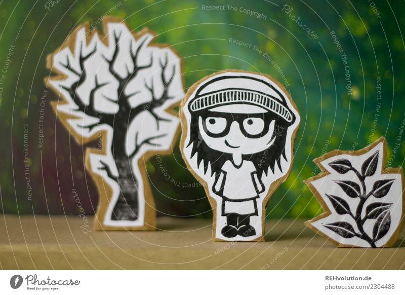 Pappland   Mädchen mit Mütze Lifestyle Freizeit & Hobby Mensch feminin Jugendliche 1 Kultur Jugendkultur Umwelt Natur Landschaft Baum Rock Brille Lächeln stehen