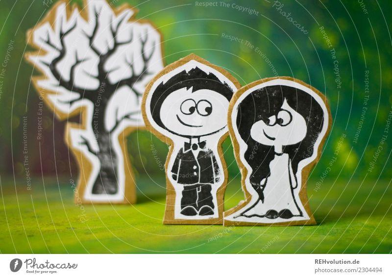 Pappland   frisch verheiratet Lifestyle Stil Feste & Feiern Hochzeit Mensch maskulin feminin Junge Frau Jugendliche Junger Mann Paar Partner 2 Umwelt Natur Baum