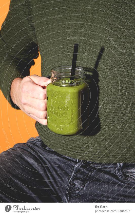 Ahornblatt, Rosmarin, Fußnagel, ... Jugendliche Mann grün Junger Mann Erotik Erwachsene Leben Lifestyle Gesundheit Stil Lebensmittel Design Frucht maskulin