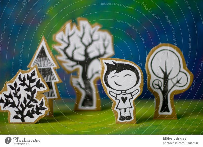Pappland | Ein Junge freut sich Lifestyle Freizeit & Hobby Mensch maskulin Kind Kindheit Jugendliche 1 3-8 Jahre Umwelt Natur Landschaft Baum Wiese T-Shirt