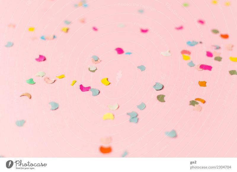 Konfetti Party Feste & Feiern rosa Fröhlichkeit Veranstaltung Vorfreude Entertainment