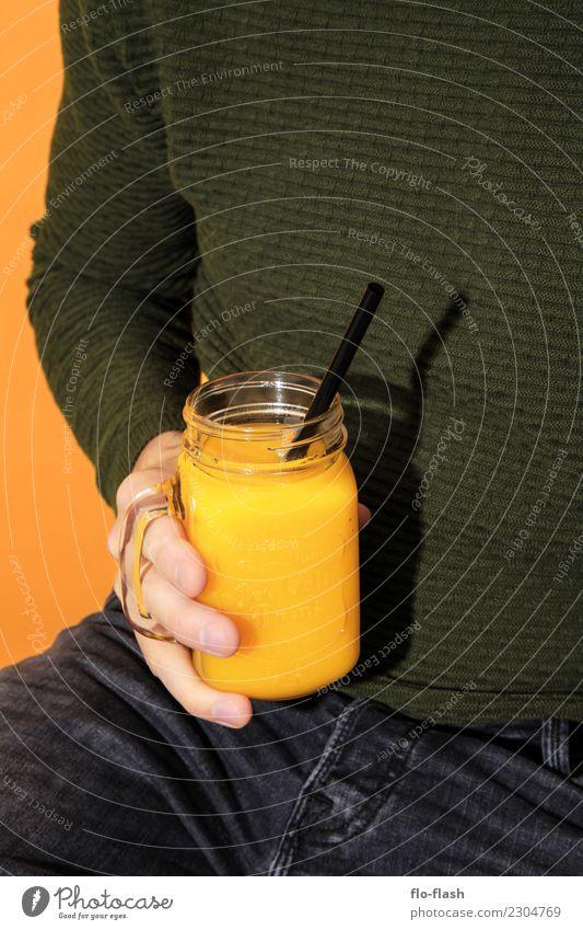 Orange, Knoblauch, Ingwer, ... Jugendliche Mann Gesunde Ernährung grün Junger Mann Erotik Erwachsene Leben gelb Gesundheit Stil Lebensmittel Mode Design Frucht