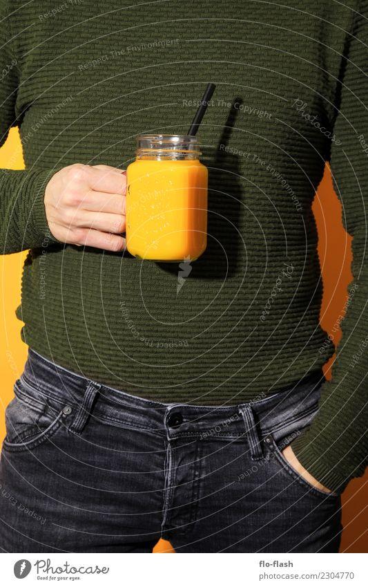 Zitrone, Kresse, Popel, ... Mensch Jugendliche Mann grün Junger Mann Erwachsene Leben gelb Lifestyle Gesundheit kalt Stil Design Frucht maskulin modern