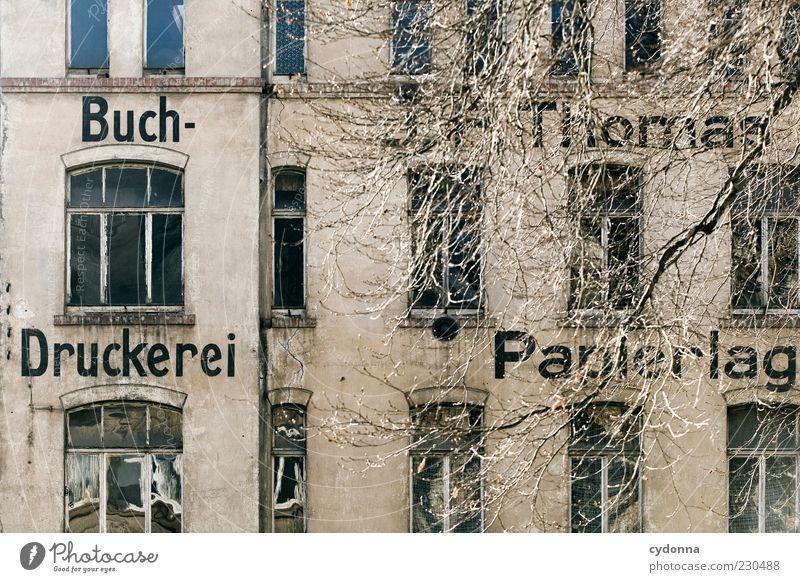 Auf Schwarz und Weiß Baum Sonne ruhig Einsamkeit Haus Fenster Architektur Zeit Fassade ästhetisch Schriftzeichen Wandel & Veränderung Zukunft einzigartig Buch