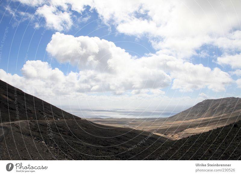 Seaside Himmel Natur Wasser Ferien & Urlaub & Reisen Meer Wolken Einsamkeit Straße Landschaft Berge u. Gebirge Wege & Pfade Küste Luft Horizont Ausflug