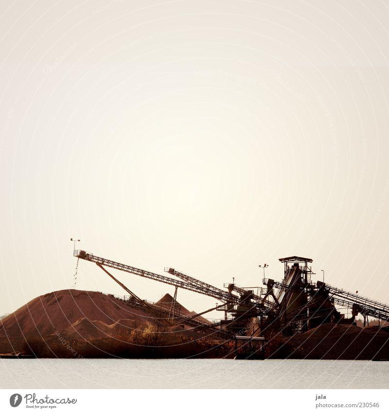kieswerk Himmel See trist Industrie Bagger