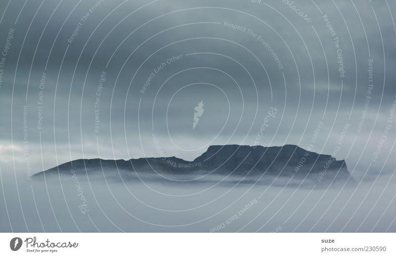 Glaube Natur Wolken Umwelt Landschaft Berge u. Gebirge grau träumen Nebel Klima außergewöhnlich Wandel & Veränderung Unendlichkeit Gipfel Island Gott