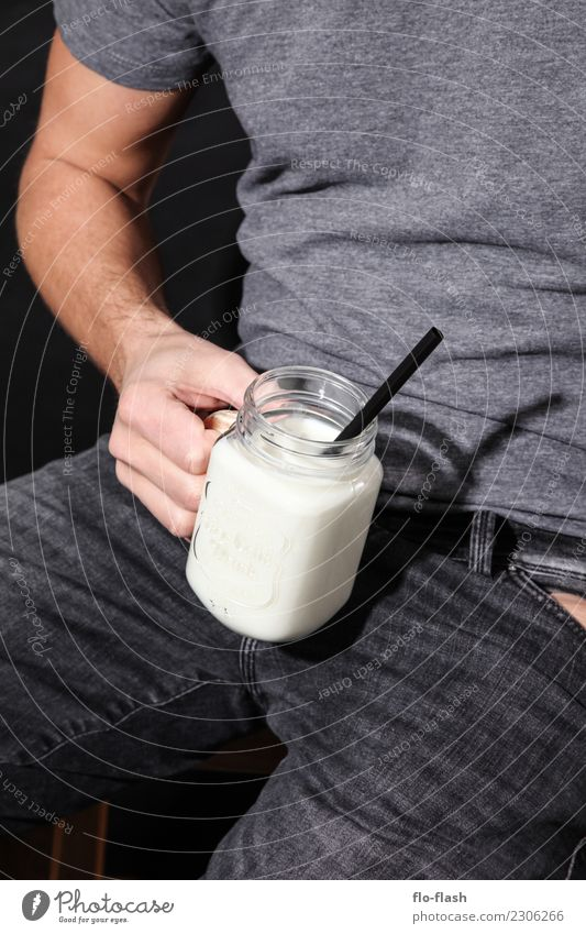 McMILK II Mensch Jugendliche Mann Junger Mann weiß Erotik schwarz Erwachsene Leben Lebensmittel Design maskulin Ernährung Glas Getränk Wellness
