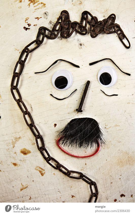 Emotionen...coole Gesichter: Collage Schnäutzer, Bart Mensch maskulin Mann Erwachsene Auge Mund 1 Kunst Künstler Kunstwerk schwarzhaarig Denken Kommunizieren