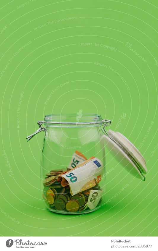 #A# Griechisches Loch Kunst ästhetisch Glas grün sparen Geld Spardose 50 Euro Kapitalanlage Zinsen Erspartes Sammlung ansammeln Spende Almosen Spender