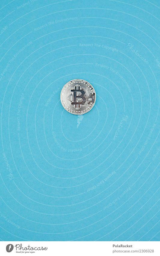 #A# Blauer Coin Kunst Kunstwerk ästhetisch blau Kryptowährung Geldmünzen silber Kapitalwirtschaft Kapitalismus Kapitalanlage Geldinstitut Geldgeschenk