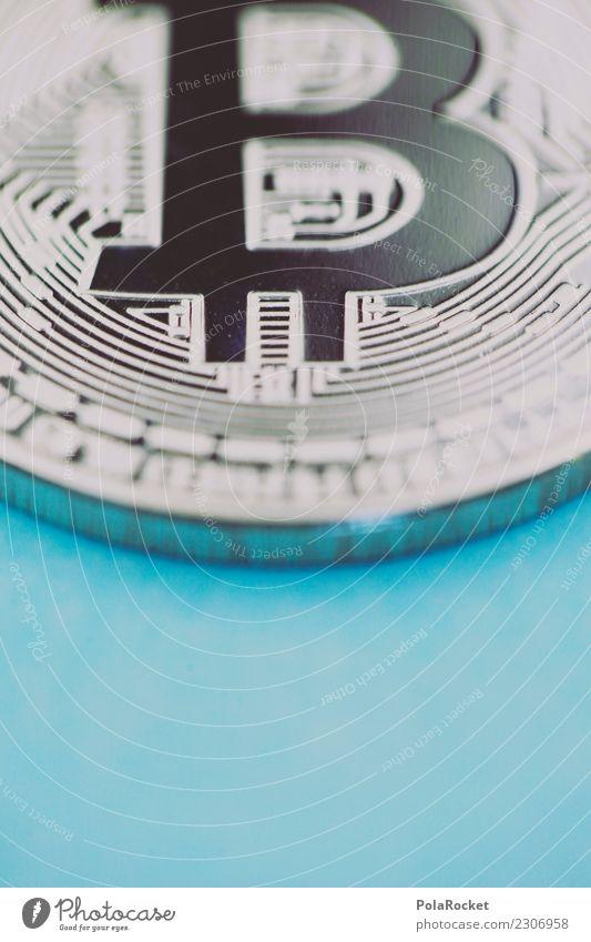 #A# BlueCoin Kunst ästhetisch Kryptowährung silber blau Geldmünzen Kapitalanlage Kapitalwirtschaft Symbole & Metaphern Farbfoto mehrfarbig Außenaufnahme