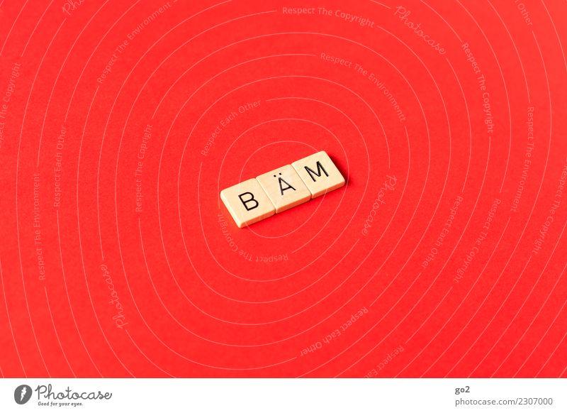 Bäm! Freizeit & Hobby Spielen Schriftzeichen Aggression außergewöhnlich lustig rot Kraft Mut Leben einzigartig Energie entdecken Entschlossenheit erleben