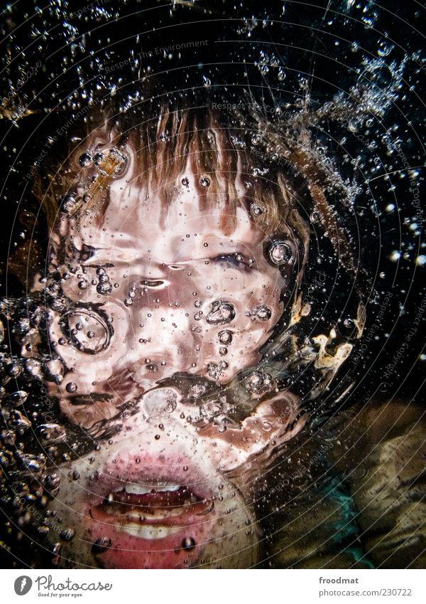 Blup Frau Mensch Jugendliche Wasser Erwachsene feminin träumen Luft Angst verrückt außergewöhnlich bedrohlich Zähne tauchen gruselig trashig