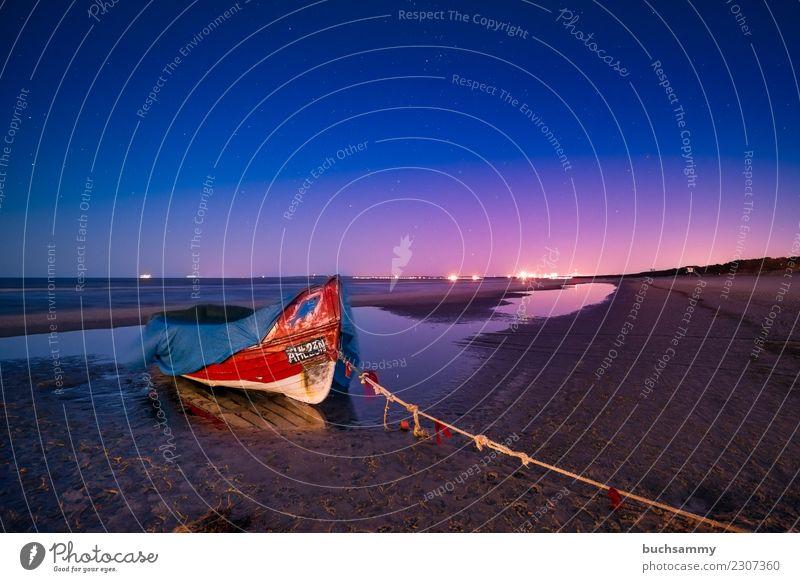 Fischerboot an der Ostsee Ferien & Urlaub & Reisen Tourismus Strand Meer Insel Seil Sand Wasser Küste Wasserfahrzeug Zufriedenheit Ahlbeck Gewässer Himmel