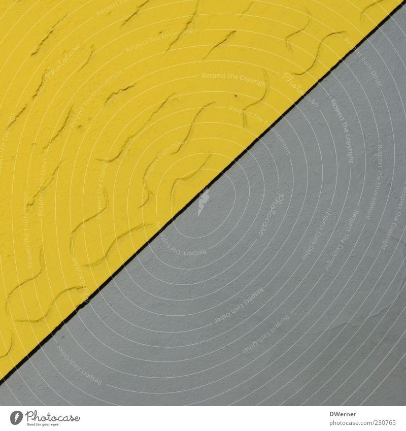 Dreiecksbeziehung gelb Wand Architektur grau Stil Stein Fassade Beton Design modern retro Dekoration & Verzierung außergewöhnlich Putz eckig