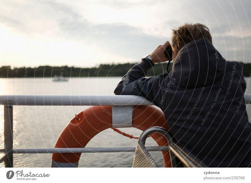 Entdeckungsreise Mensch Natur Wasser Ferien & Urlaub & Reisen Ferne Leben Umwelt Freiheit träumen See Horizont Zeit Ausflug Tourismus Lifestyle beobachten