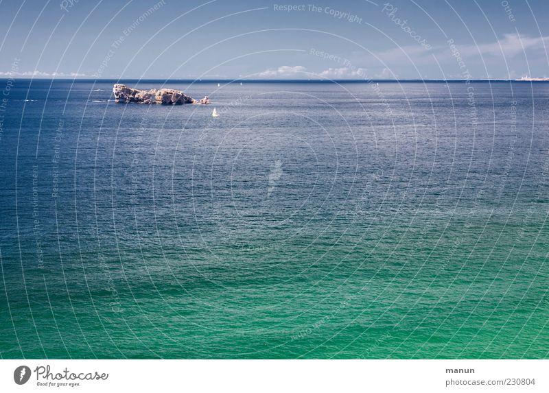 Weitblick Natur Wasser schön Himmel Meer Sommer Ferien & Urlaub & Reisen Einsamkeit Ferne Erholung Freiheit Landschaft Küste Insel authentisch Unendlichkeit