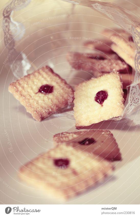 Lecker vom Bäcker. Lebensmittel ästhetisch Ernährung viele lecker Appetit & Hunger Tüte Keks ungesund Kalorie Marmelade Kalorienreich Tiefenschärfe High Key Spezialitäten