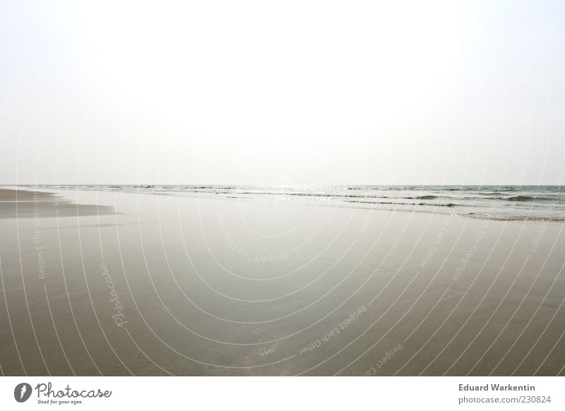 Himmel Wasser Sand Natur blau Meer Sommer Strand Ferne Umwelt Landschaft grau Küste Luft Wellen leer