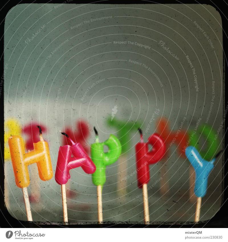 Happy Birthday! Geburtstag Geburtstagsgeschenk Geburtstagswunsch Kerze Jubiläum retro Retro-Trash Retro-Farben Momentaufnahme Feste & Feiern Farbfoto