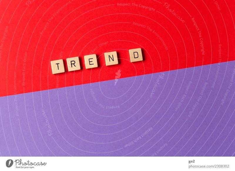 Es geht aufwärts Arbeit & Erwerbstätigkeit Arbeitsplatz Wirtschaft Business Mittelstand Unternehmen Karriere Erfolg Schriftzeichen positiv violett rot