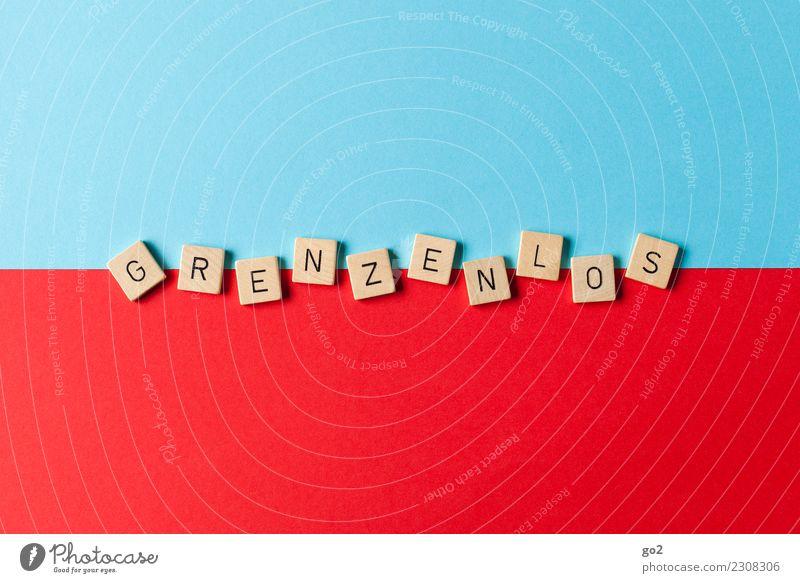 Grenzenlos Ferien & Urlaub & Reisen Leben Kunst Spielen Tourismus Horizont Schriftzeichen Kommunizieren Kultur Kreativität Perspektive Lebensfreude Zukunft Idee