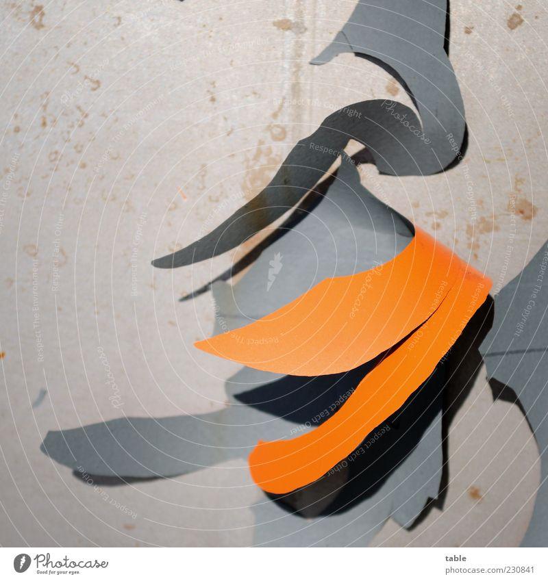 der Lack is ab alta Farbe grau orange Metall Wandel & Veränderung Vergänglichkeit verfallen Verfall Kunststoff hängen Zerstörung Blech Textfreiraum abblättern